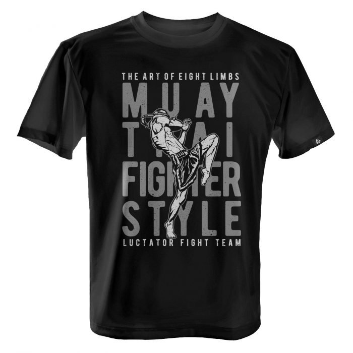 LUCTATOR - Muay Thai Fight Team - Black - Front