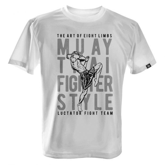LUCTATOR - Muay Thai Fight Team - White - Front