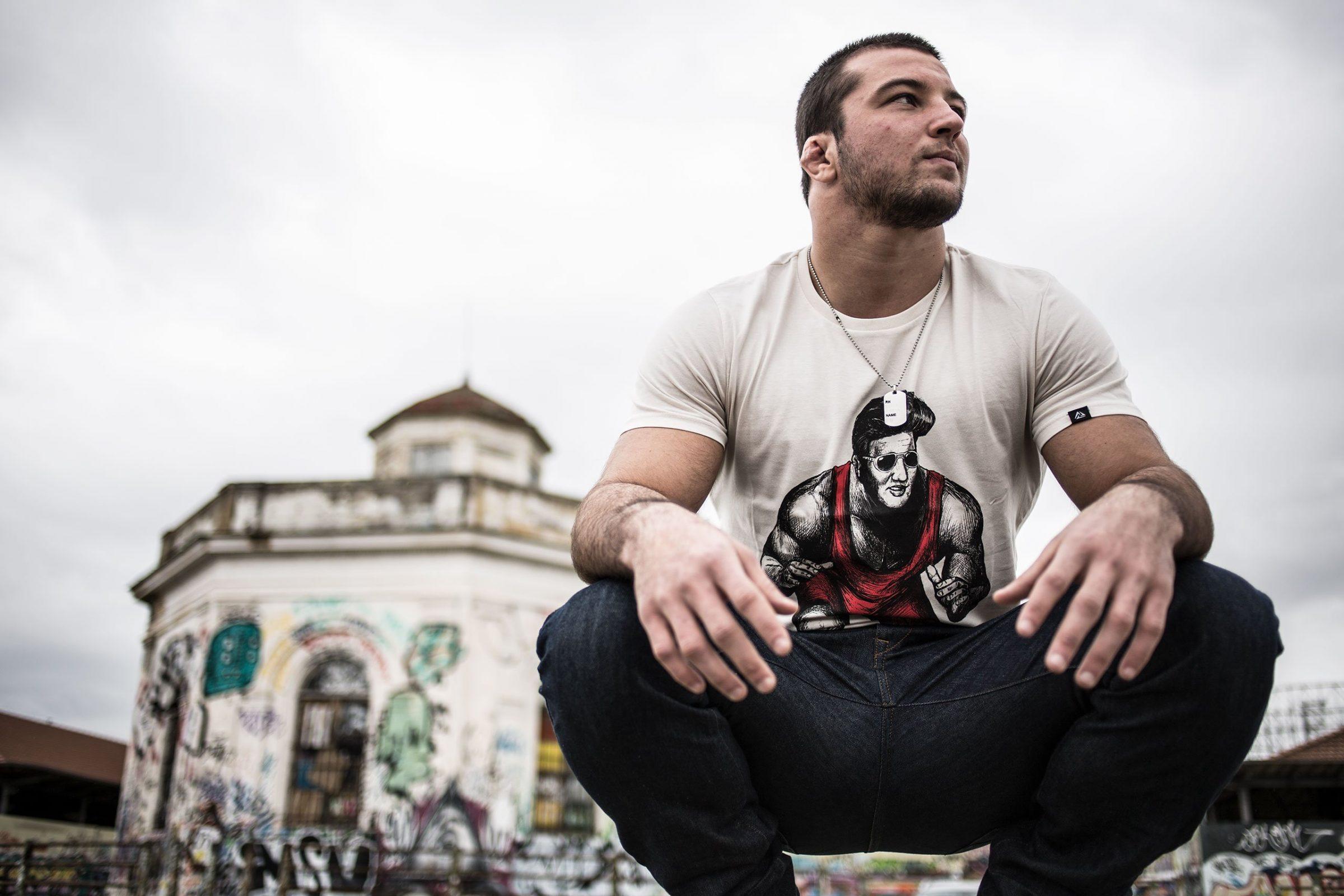 Elvis Wrestling T-shirt