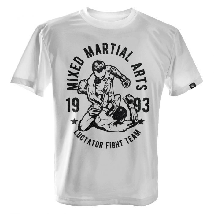 LUCTATOR - MMA Fight Team - White - Front