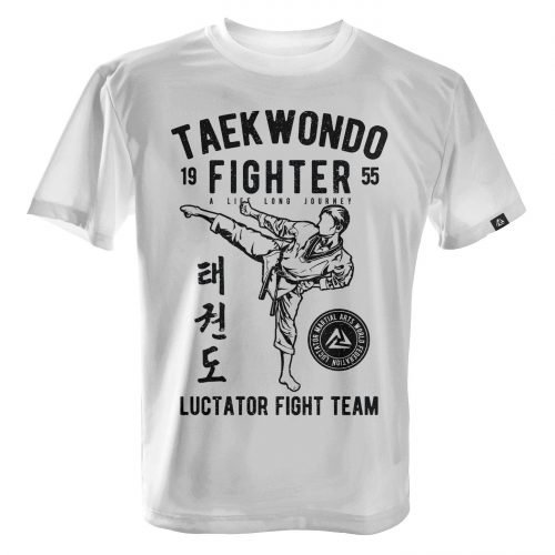 LUCTATOR - Taekwondo Fight Team - White - Front