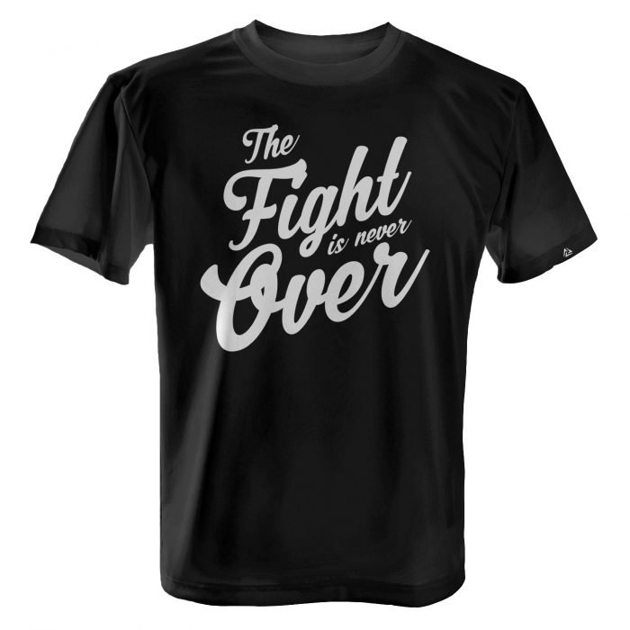 LUCTATOR - The Fight is Never Over - Black - Front
