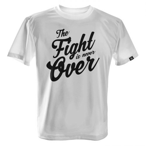 LUCTATOR - The Fight is Never Over - White - Front